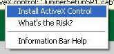 Install ActiveX Control